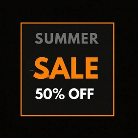 SUMMER SALE 50% OFF
