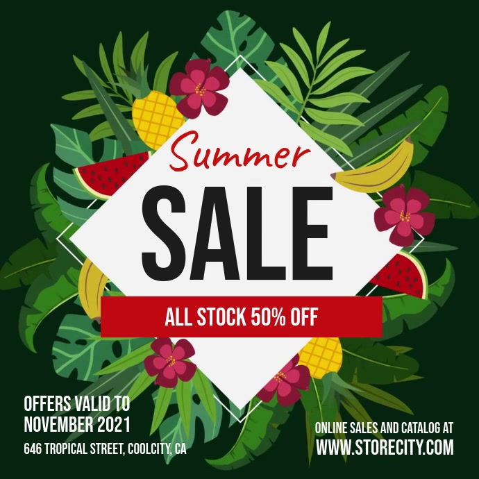 Summer Sale Ad Template