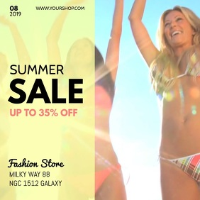 Summer Sale Advert Beach Sun Fashion Shopping