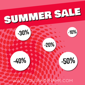 Summer sale advert template instagram retail flyer