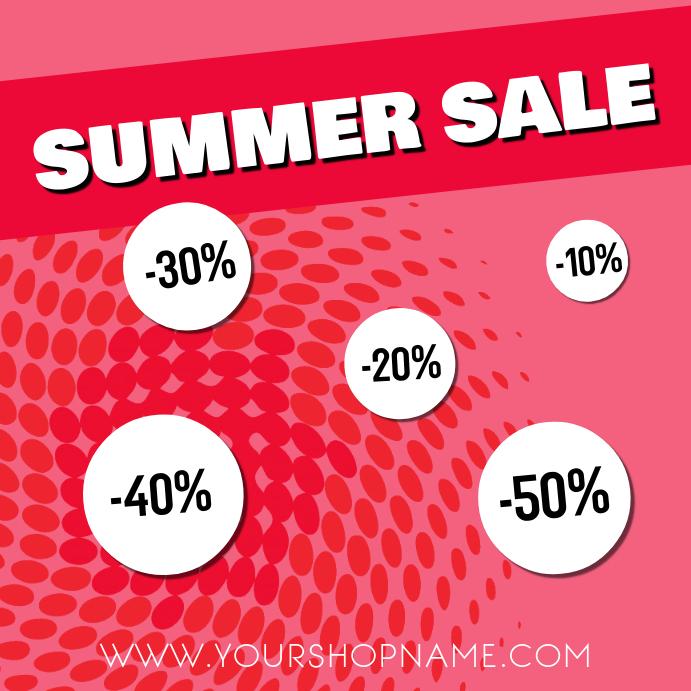 Summer sale advert template instagram retail flyer