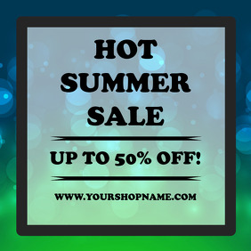Summer sale advert template instagram square post