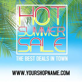 Summer sale advert template instagram square post