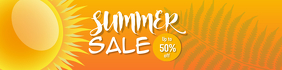 Summer Sale Banner Template Spanduk 2' × 8'