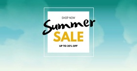 Summer Sale Big sell-out advert promo now shopping beach Anuncio de Facebook template