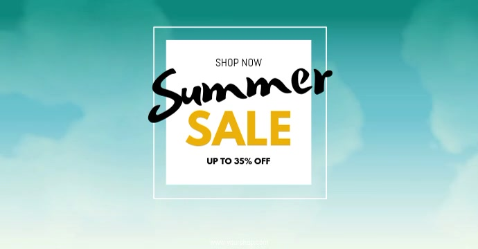 Summer Sale Big sell-out advert promo now shopping beach template