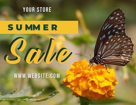 SUMMER SALE BUTTERFLY SOCIAL MEDIA AD Flyer (US-Letter) template