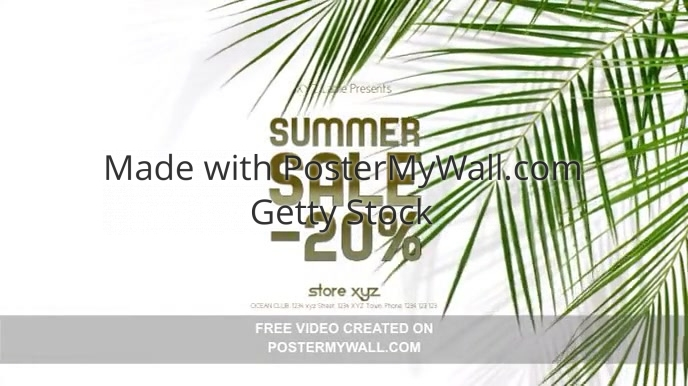 Summer Sale Cover Plants Palms Tropical Ad
