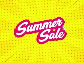 Summer sale Рекламная листовка (US Letter) template