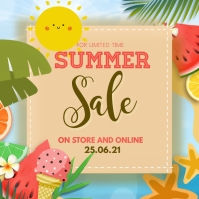 summer sale Square (1:1) template