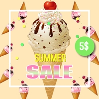 Summer sale Сообщение Instagram template