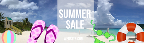 Summer Sale Imagem de fundo do LinkedIn template
