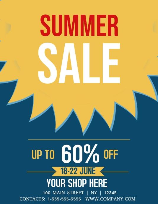 Summer Sale Folheto (US Letter) template
