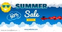 summer sale Iklan Facebook template