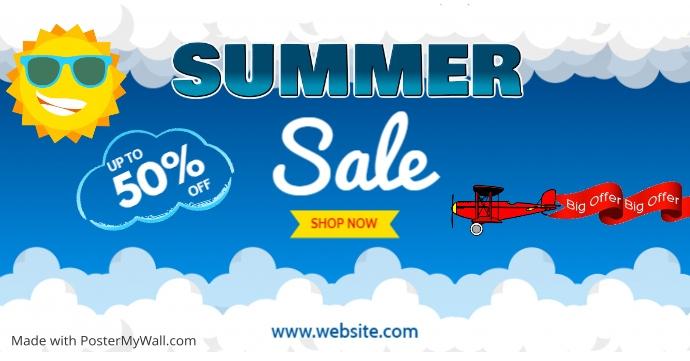 summer sale Facebook 广告 template