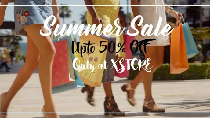 Summer Sale 数字显示屏 (16:9) template