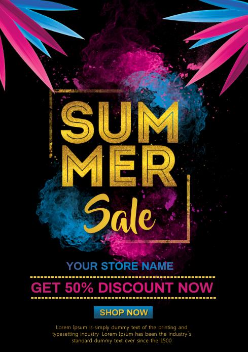 Summer sale A4 template