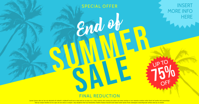 SUMMER SALE Facebook-annonce template