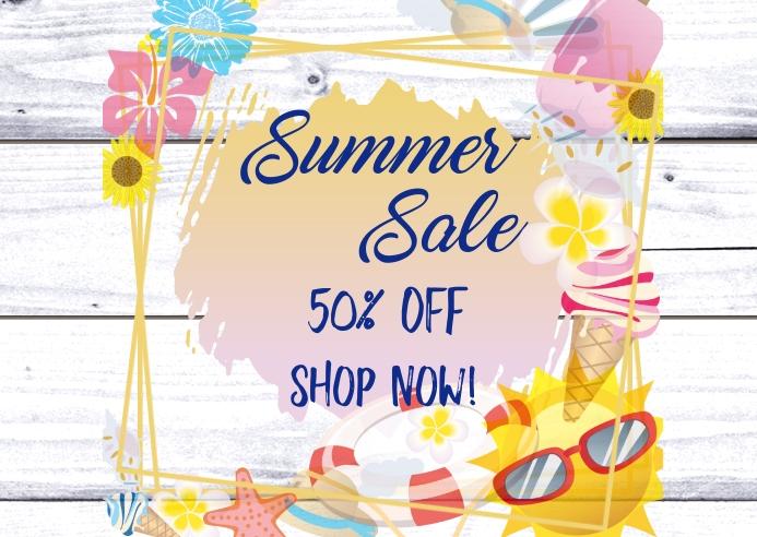 Summer Sale Kartu Pos template