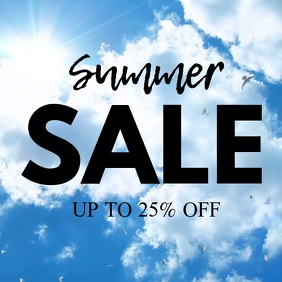Summer Sale Discount Special Sun Deal Promotion Ad Heaven