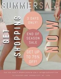 Summer Sale Event Flyer Poster Template Pamflet (VSA Brief)