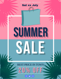 Summer Sale Event Flyer Template