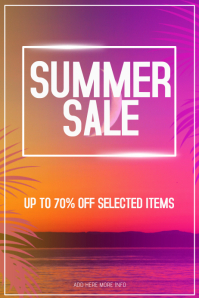 summer sale event poster retail template
