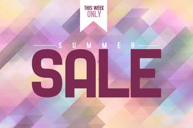summer sale event poster retail template landscape