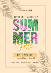Summer Sale Fashion Flyer A4 template