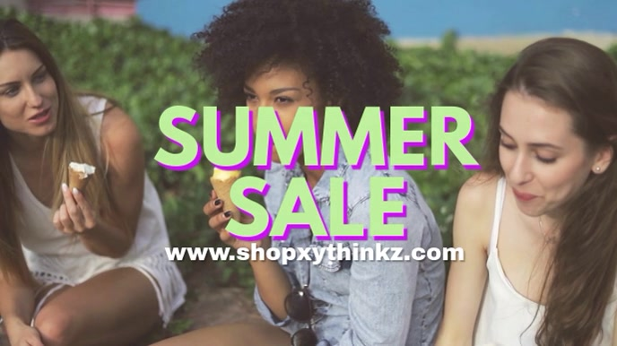 Summer Sale Fashion Video Advert Header 数字显示屏 (16:9) template