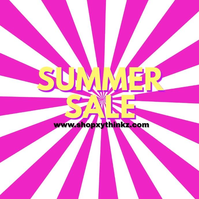 Summer Sale Fashion Video Retro Pink Advert
