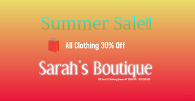 Fashion clothing fb ad template Summer Sale fb ad