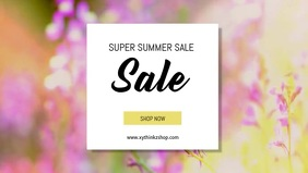 Summer Sale Flowers Retail Online Shop Ad Vídeo de portada de Facebook (16:9) template