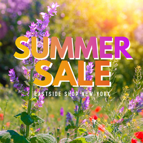 Summer Sale Flowers Shopping Sun woman fashion store beauty