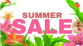 Summer Sale Flowers Video Advert Social Media Banner Offer template