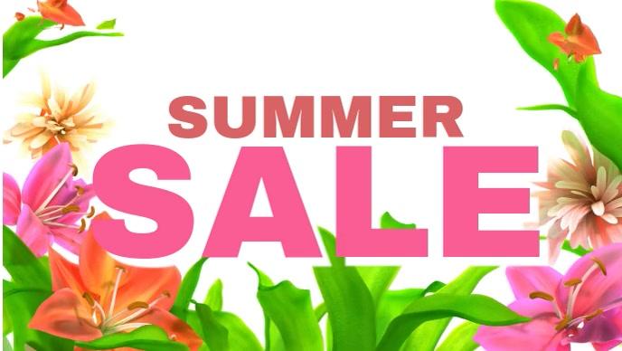 Summer Sale Flowers Video Advert Social Media Banner Offer