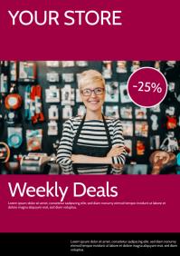 Weekly Deals Flyer Poster Advert A4 template