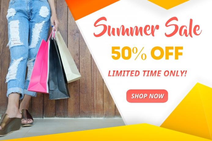Summer Sale Flyer Banner Template Plakat