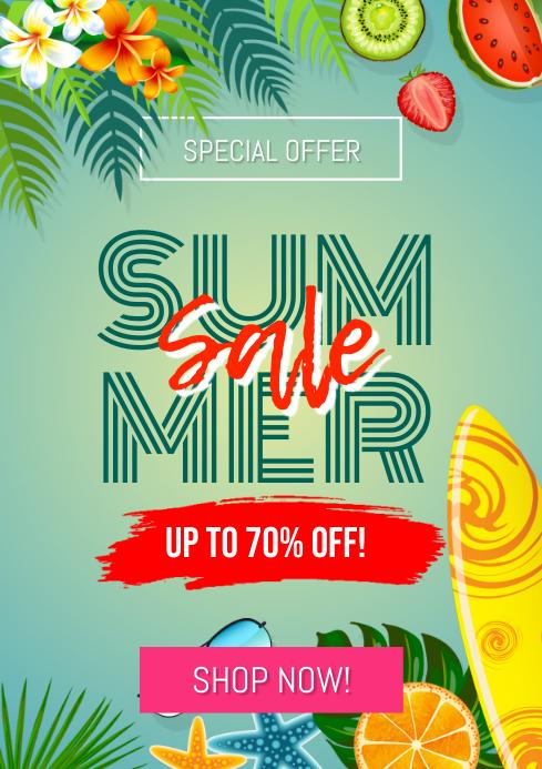 Summer Sale Flyer A4 template