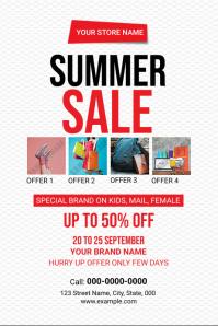 Summer Sale Flyer ป้าย template