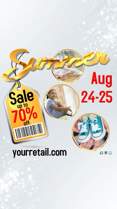 Summer Sale Flyer Instagram Story template