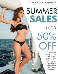 summer sale flyer design template advertiseme