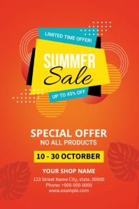 Summer Sale Flyer Etiket template