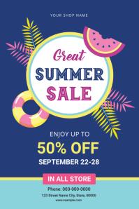 Summer Sale Flyer Ilebula template