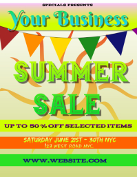 SUMMER sale FLYER POSTER TEMPLATE