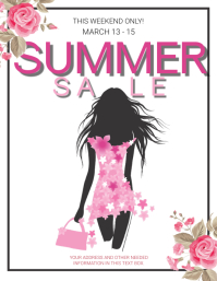 SUMMER Sale Flyer Template Folheto (US Letter)