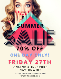 Summer Sale flyer template