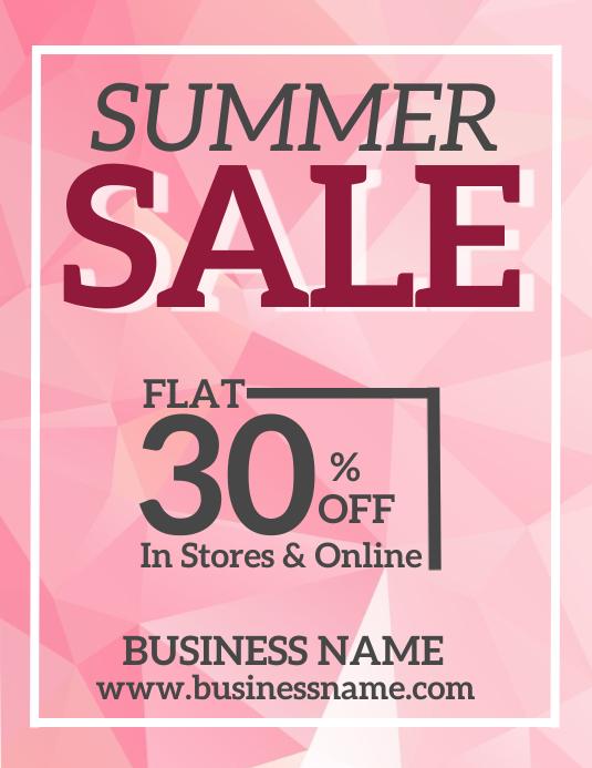 Summer Sale Flyer Template Løbeseddel (US Letter)