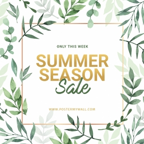 Summer Sale instagram ad template