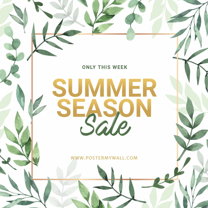 Summer Sale instagram ad template